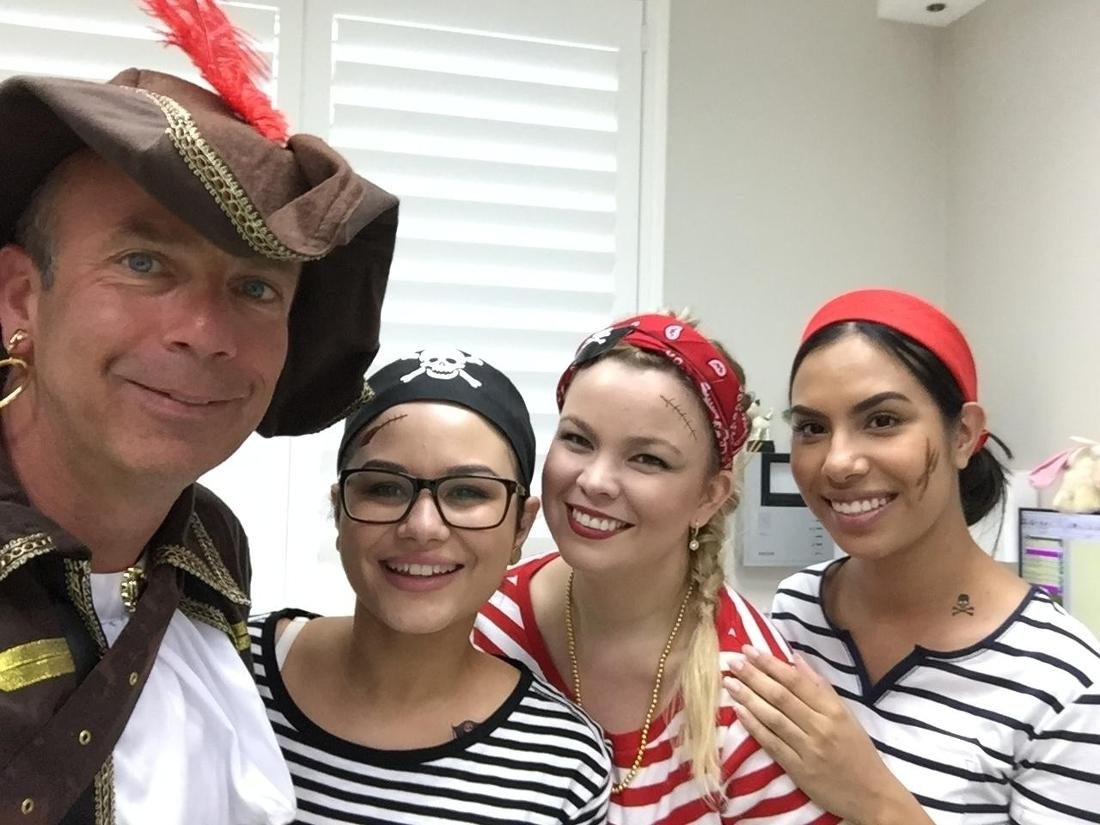 Western Smiles Dental Care team dressed up as pirates for Pirate Day