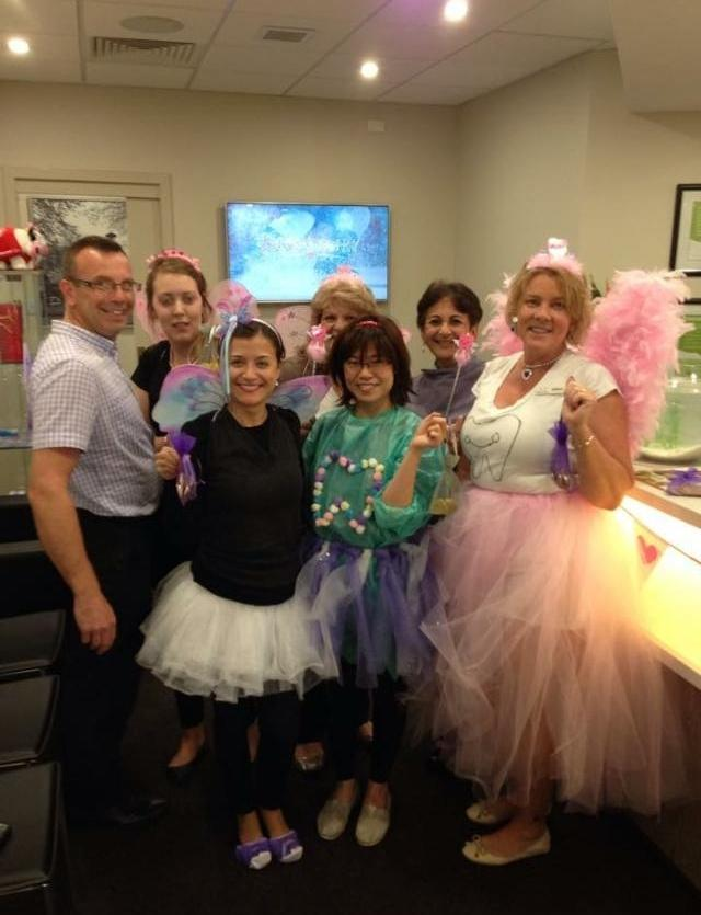 Western Smiles Dental Care dressed as tooth fairies